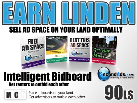 SecondAds Bidboard - Next Generation Adboard Technology