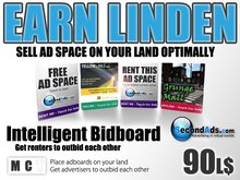 SecondAds Bidboard - Next Generation Adboard Technology