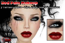.:Glamorize:. Red Pain Makeup - 7 Tattoo Layers