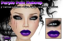.:Glamorize:. Purple Pain Makeup - 7 Tattoo Layers
