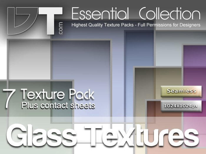7 Glass Textures - Full Perm - DT Essential Collection