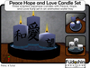 Peace Hope and Love Japanese Kanji Candles
