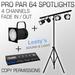 Pro Par 64 Spots 4 channels