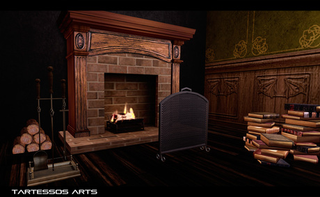::TA Classy Fireplace Set