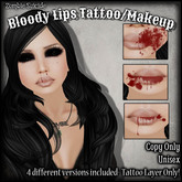 :Z.S: Bloody lips Tattoo/Makeup