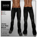 Shiver - Jeans Black Low Rise with & Without Belt (2 versions)