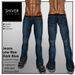 Shiver - Jeans Dark Blue Low Rise with & Without Belt (2 versions)