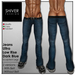 Shiver - Jeans Dark Blue Ultra Low Rise with & Without Belt (2 versions)