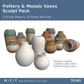 Trowix - Pottery & Mosaic Vases Sculpt Pack