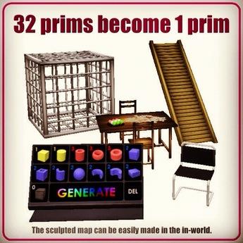 Prim Generator (32 prims become 1 sculpted prim)