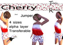 *TR*  Mesh Jumper In cherry