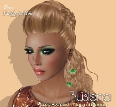 FaiRodis Ruslana natural blonde hair+earring gift