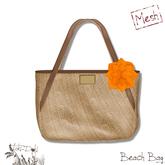 (TokiD) beach bag (mocha) [MESH]