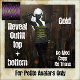 [Moxie] Reveal Strappy Top & Jeans (gold)... For Petites!