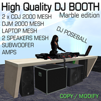 High Quality Dj Booth marble edition