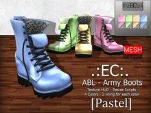 .:EC:. Box ABL Army Boots [Pastel]