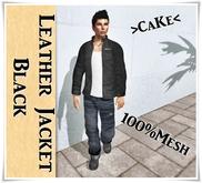 *PROMO!!!*Leather_Jacket-shirt-Mesh BlacK/White