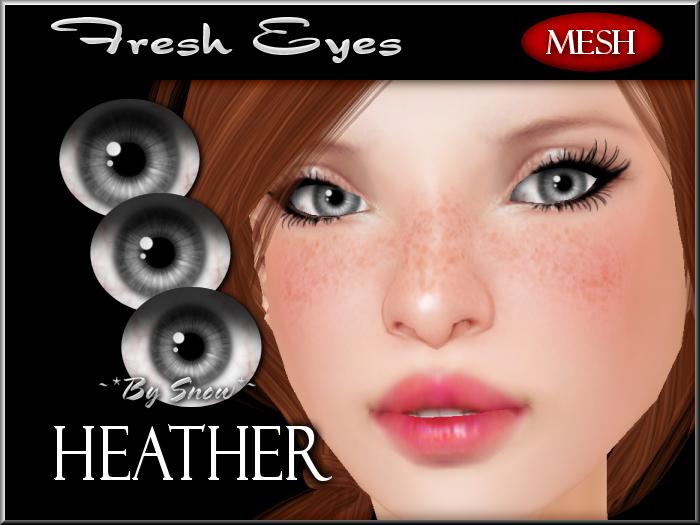 ~*By Snow*~ Fresh Eyes (Heather) w/MESH