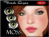 ~*By Snow*~ Fresh Eyes (Moss) w/MESH
