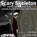Dead Center: Scary Skeleton in Coffin
