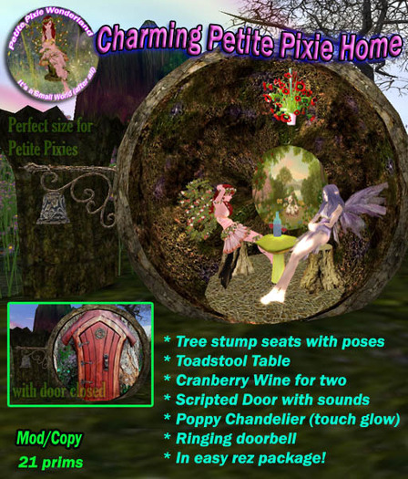 Charming Petite Home. Petite Wonderland, an enchanted petite house in a hollowed rock