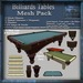 Billiards Table Mesh Pack, Victorian Antique Billiards 3D Model Accessories, Full Perm Mesh & Textures