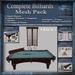 Complete Billiards Mesh Pack, Vintage Antique Billiards - Pool Table Accessories, Full Perm Mesh & Textures