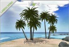 6 palms in 2 prims P7 TRANSFER version