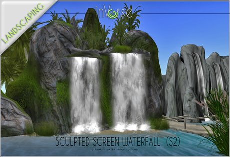 Sculpted Waterfall privacy screen S2 COPY version