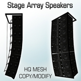 Stage Array Speakers High Quality Mesh