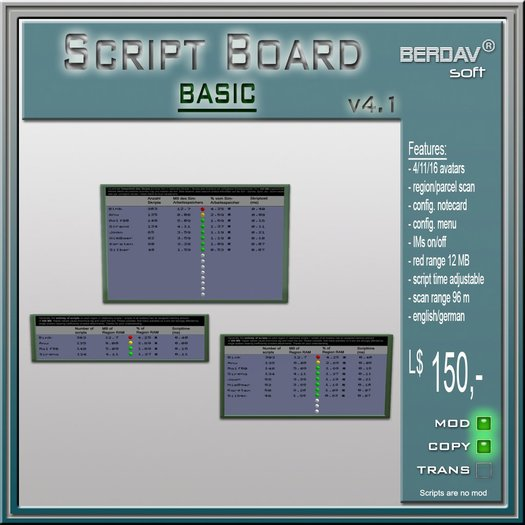 [ BERDAVsoft - Script impact 4.11 basic ]