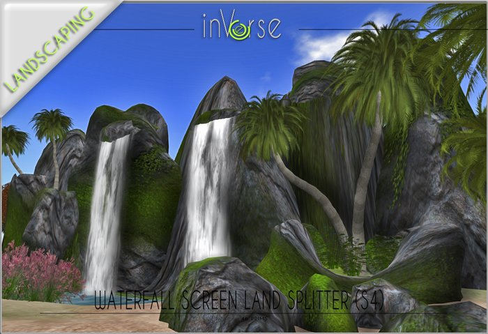 Sculpted Waterfall land splitter privacy screen s4 copy version