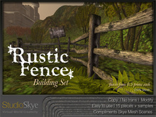 NEW + Rustic Fence Building Set - 100% MESH