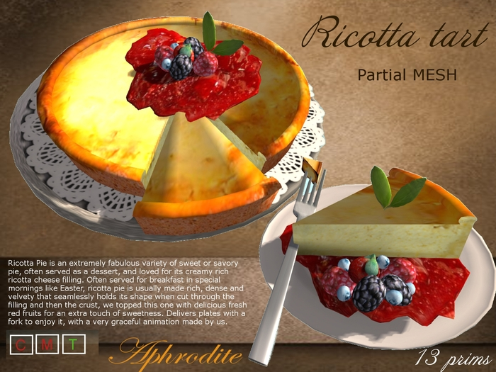 Aphrodite Ricotta tart with red fruits- Argentina cake/ pie!