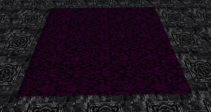 Second Life Marketplace Rug Dark Purple