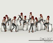 D.Luxx Poses - Situations - 10 Single Static Sitting Female Poses