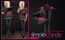 SimpleCandy - *Marketplace GIFT* MESH Trouble Maker Outfit [Knuckles]