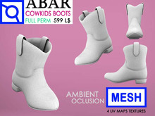 ABAR - SH028 MESH COWKIDS BOOTS / BABY / CHILD / KID - MESH- AMBIENT OCLUSION  - Full Perm