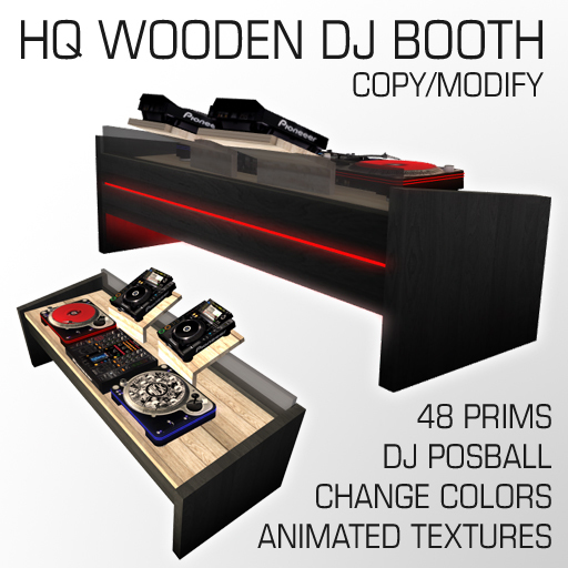 HQ Wooden Dj booth