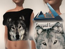 -ATTIC- Cropped Top (Wolf) MESH