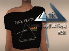 -ATTIC- Cropped Top (Pink Floyd) MESH