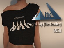 -ATTIC- Cropped Top (The Beatles) MESH