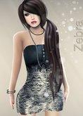 MESH ZEBRA DRESS *YAKO* Gift OLD BRAND