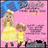 Candii Kitten - Arabelle Outfit in Yellow Yabusaka Baby