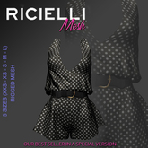Ricielli Mesh - Papi Jumpsuit /polkadots#black