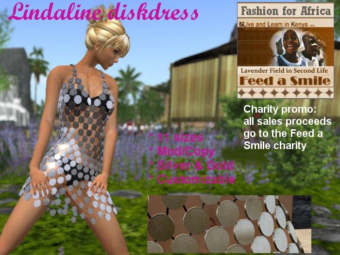 Lindaline diskdress charity promo