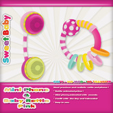 Sweet Baby - Mini Phone & Rattle - Pink