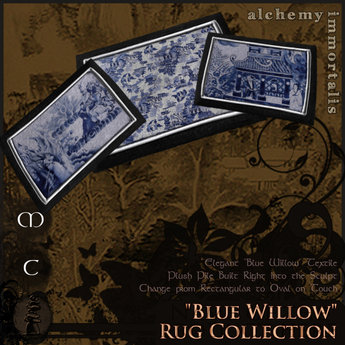 ")AI( Rugs Fatpack - ""Blue Willow"" Collection [COPY/MODIFY/no transfer]"