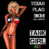 *TG* - Texas Flag Bikini
