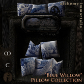 ")AI( Haute Seat Pillow Fatpack - ""Blue Willow"" Collection [COPY/MODIFY/no transfer]"